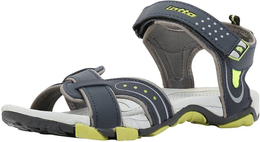 Upto 70% Off on Crocs, Woodland & more By Flipkart | Lotto Men Grey Lime Sandals @ Rs.539