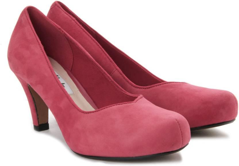 36f9262cf3a Clarks Women Red Suede Heels - Buy Red Suede Color Clarks Women Red Suede Heels  Online at Best Price - Shop Online for Footwears in India