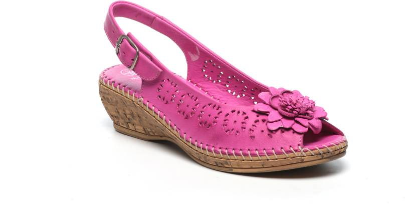 3bc822d6ccc Pavers England Women PINK Wedges - Buy PINK Color Pavers England Women PINK  Wedges Online at Best Price - Shop Online for Footwears in India