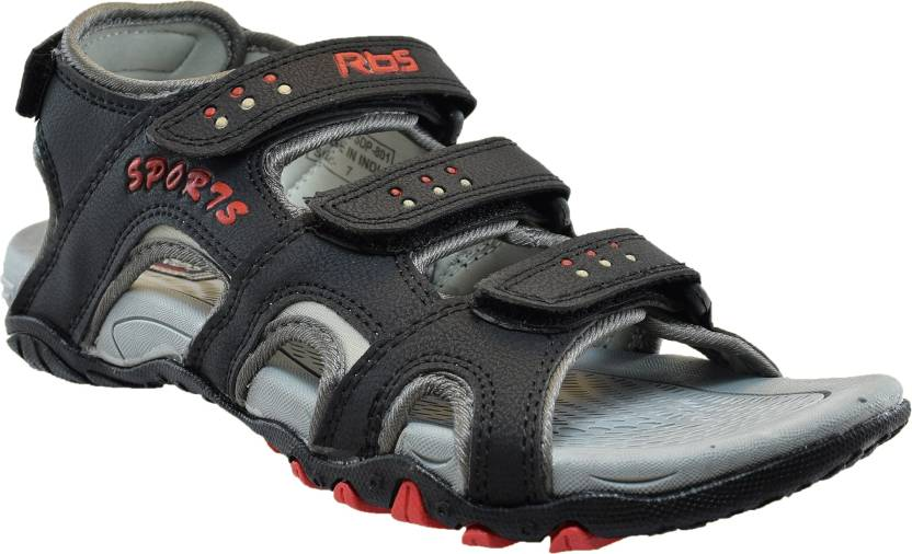 9337c3f09 JNG RBS Men Black Sandals - Buy Black Color JNG RBS Men Black Sandals Online  at Best Price - Shop Online for Footwears in India