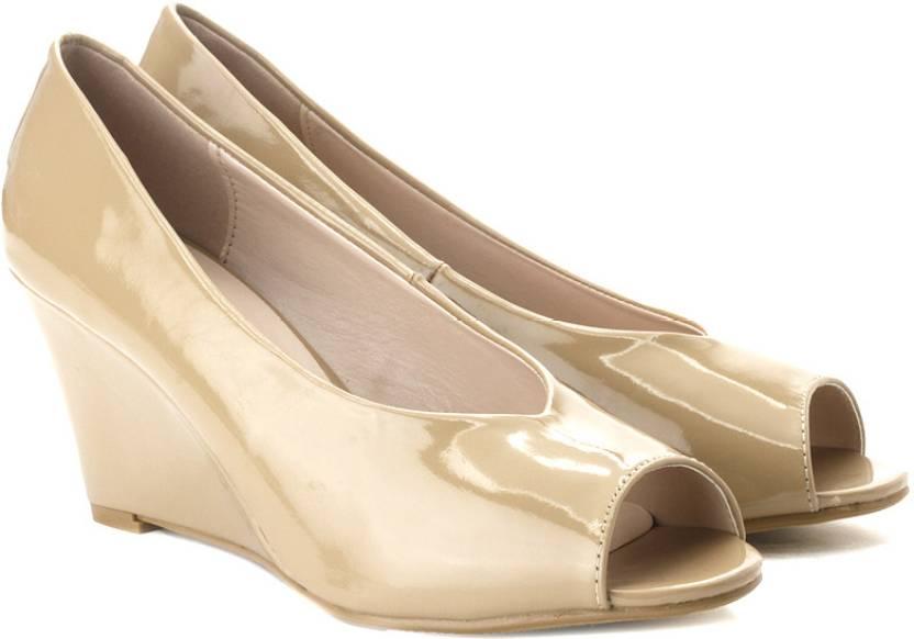 ecb6ce5f0797aa Van Heusen Women Nude Wedges - Buy Nude Color Van Heusen Women Nude Wedges  Online at Best Price - Shop Online for Footwears in India