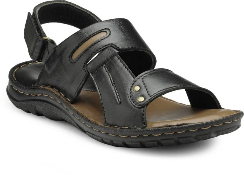 1a223fba283 Teakwood Men Black Sandals - Buy Teakwood Men Black Sandals Online at Best  Price - Shop Online for Footwears in India