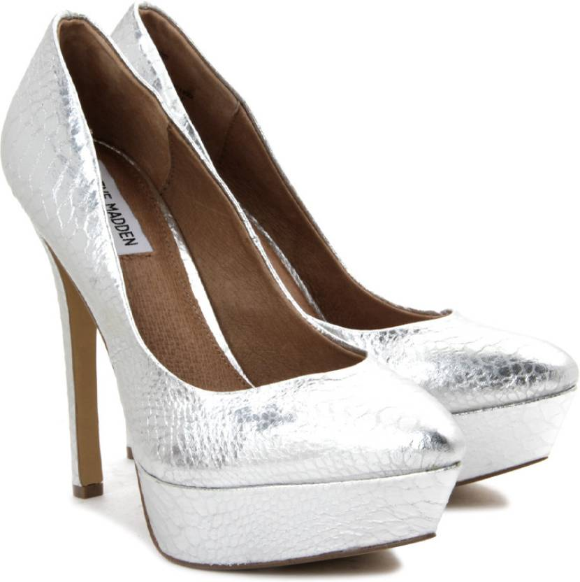 f6cc55db209 Steve Madden Women Silver Heels - Buy Silver Color Steve Madden Women Silver  Heels Online at Best Price - Shop Online for Footwears in India