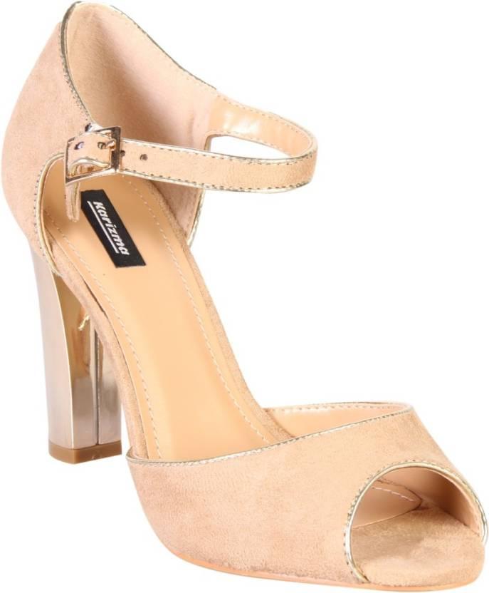Karizma Shoes Women Beige Heels