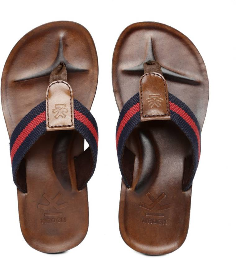 WROGN Men Navy::Red Sandals