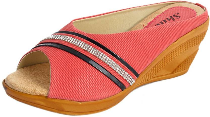 79ba6481f2e Kanchan Women Pink Wedges - Buy Pink Color Kanchan Women Pink Wedges Online  at Best Price - Shop Online for Footwears in India