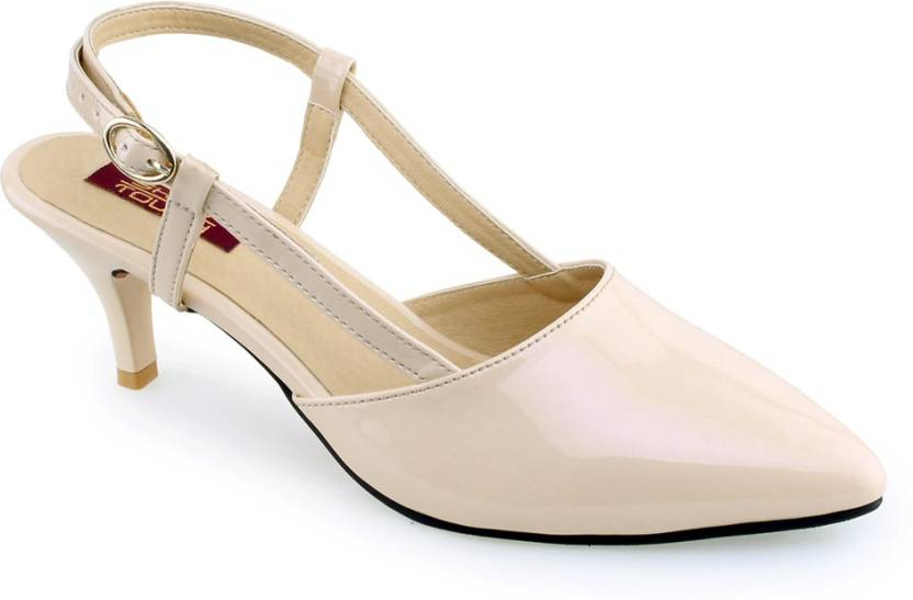 0b9755f84c14 Shuz Touch Women Peach Heels - Buy Peach Color Shuz Touch Women Peach Heels  Online at Best Price - Shop Online for Footwears in India