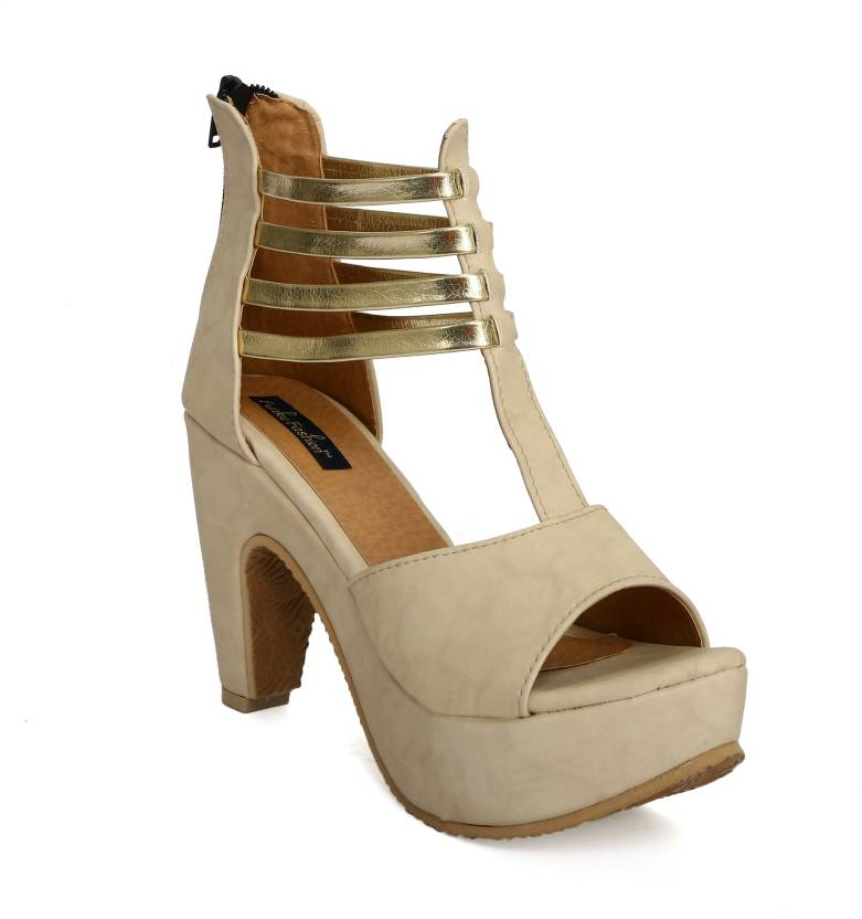 ee1c269c8 Funku Fashion Women Beige Heels - Buy Beige Color Funku Fashion Women Beige Heels  Online at Best Price - Shop Online for Footwears in India