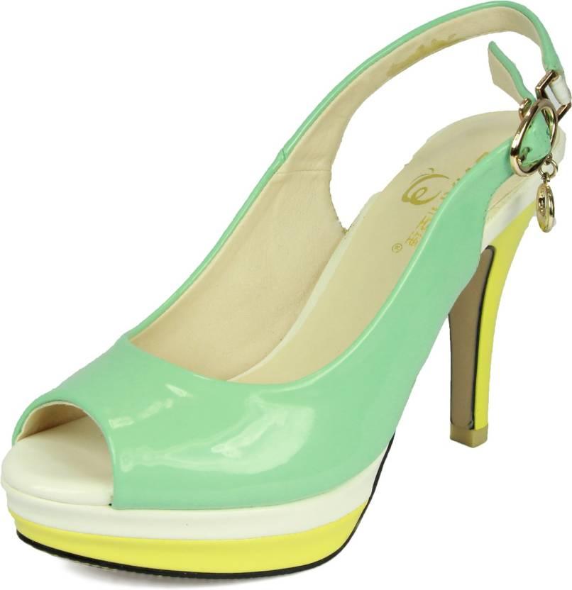 d29f02addf0 Glinchy Women Green Heels - Buy Green Color Glinchy Women ...