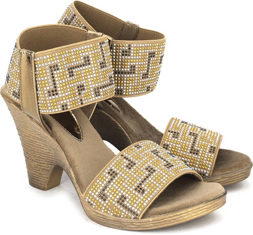 2de432bab Catwalk Women BRONZE Heels - Buy BRONZE Color Catwalk Women BRONZE Heels  Online at Best Price - Shop Online for Footwears in India
