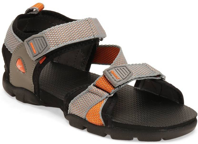 Sparx Men Grey Orange Sandals