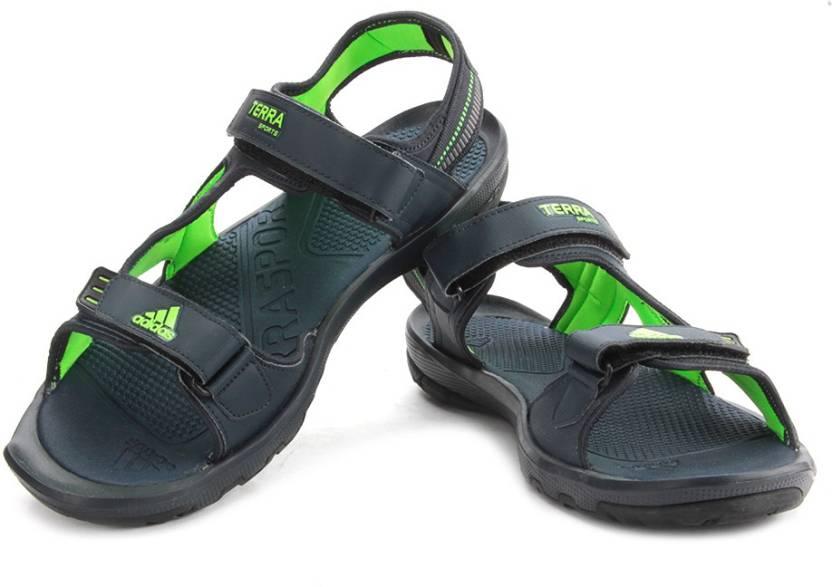 9afd3e457ed1 ADIDAS Men NTNAVY SGREEN NGTMET Sports Sandals - Buy Navy