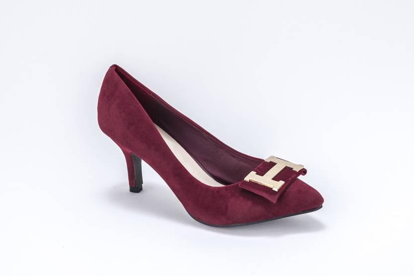 94132cae25ee Nina Feliz Women MAROON Heels - Buy MAROON Color Nina Feliz Women MAROON Heels  Online at Best Price - Shop Online for Footwears in India