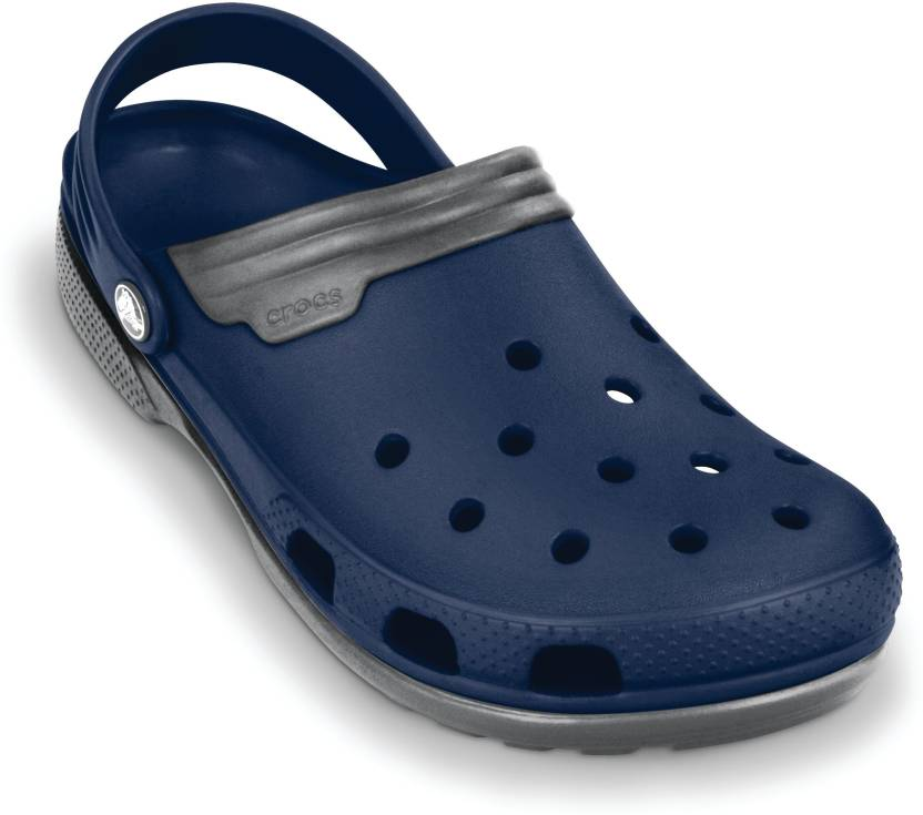 8d1fe8be809297 Crocs Men Navy Smoke Sandals - Buy Crocs Men Navy Smoke Sandals Online at  Best Price - Shop Online for Footwears in India