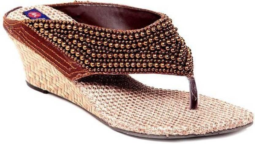 83c40658641 Kanchan Women Copper Wedges - Buy Copper Color Kanchan Women Copper Wedges  Online at Best Price - Shop Online for Footwears in India