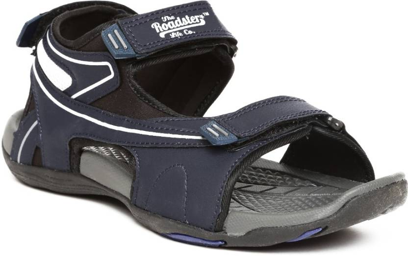 c5e60444559e Roadster Men Navy Sports Sandals - Buy Navy Color Roadster Men Navy Sports  Sandals Online at Best Price - Shop Online for Footwears in India