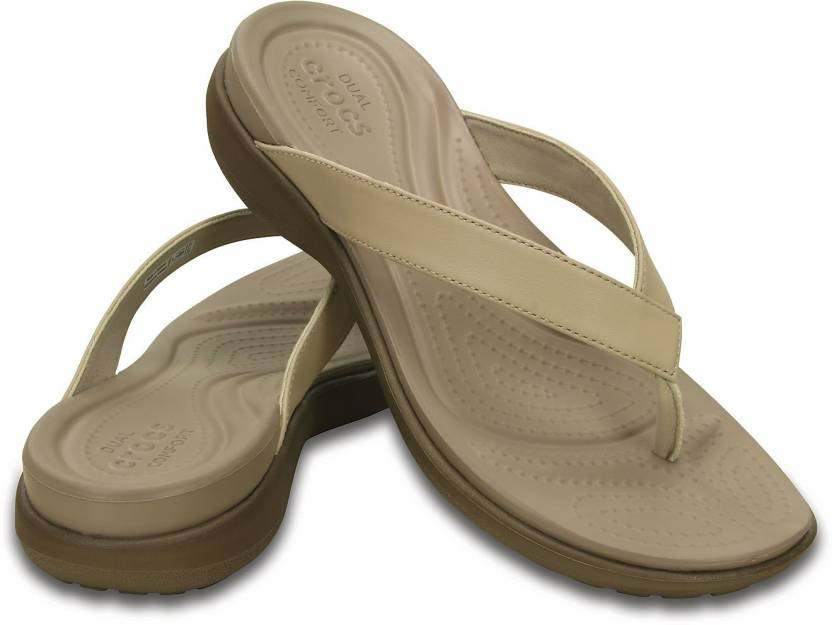 7163d413e Crocs Women Beige Flats - Buy 202502-27L Color Crocs Women Beige Flats  Online at Best Price - Shop Online for Footwears in India