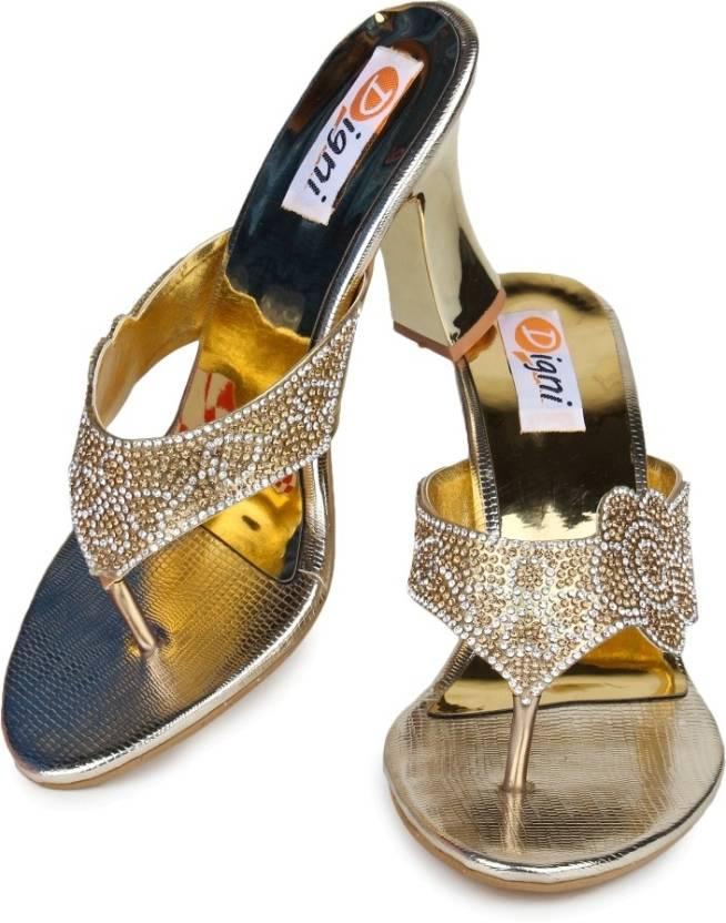5eb69cae71 Digni Women Golden Heels - Buy Golden Color Digni Women Golden Heels Online  at Best Price - Shop Online for Footwears in India | Flipkart.com