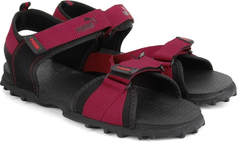 72f64839832c Puma Men Black - red Sports Sandals - Buy puma blk-high R.R Color Puma Men  Black - red Sports Sandals Online at Best Price - Shop Online for Footwears  in ...