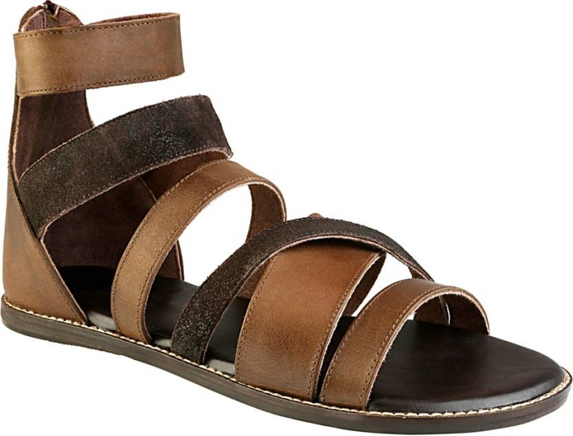 d861f0c33308 ESTD. 1977 Men Brown Sandals - Buy Brown Color ESTD. 1977 Men Brown Sandals  Online at Best Price - Shop Online for Footwears in India
