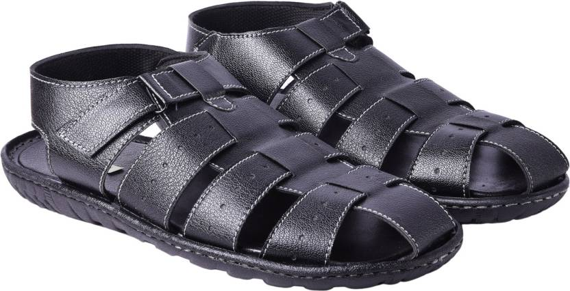 b1eaa394d95603 Andrew Scott Men Black Sandals - Buy Black Color Andrew Scott Men Black  Sandals Online at Best Price - Shop Online for Footwears in India