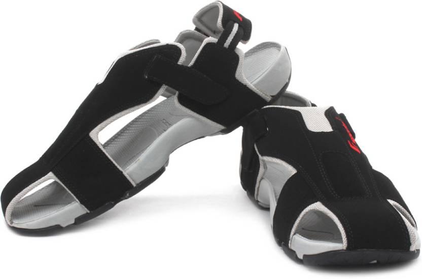 F Sports Men Blk, Red Sports Sandals
