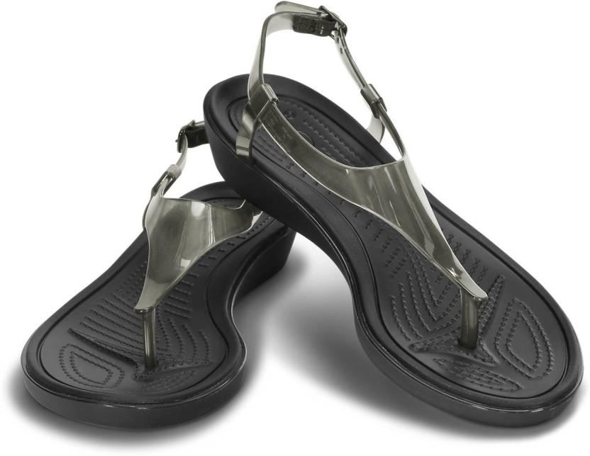 8998b00f5 Crocs Women Black Sports Sandals - Buy 14975-060 Color Crocs Women Black  Sports Sandals Online at Best Price - Shop Online for Footwears in India ...