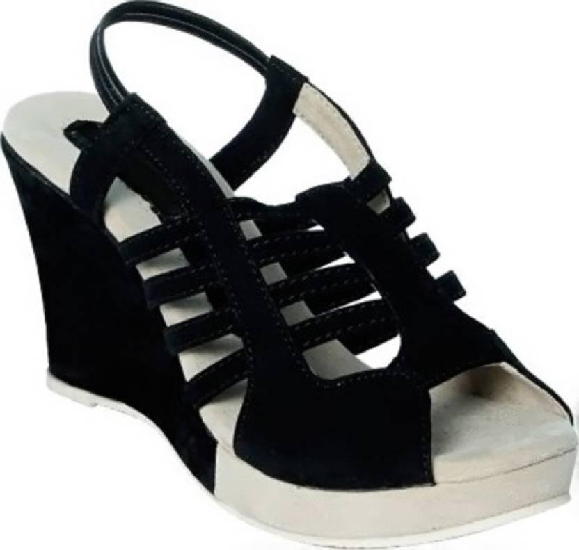 9d9157f4196 Solitude Women Black Wedges - Buy Black Color Solitude Women Black ...