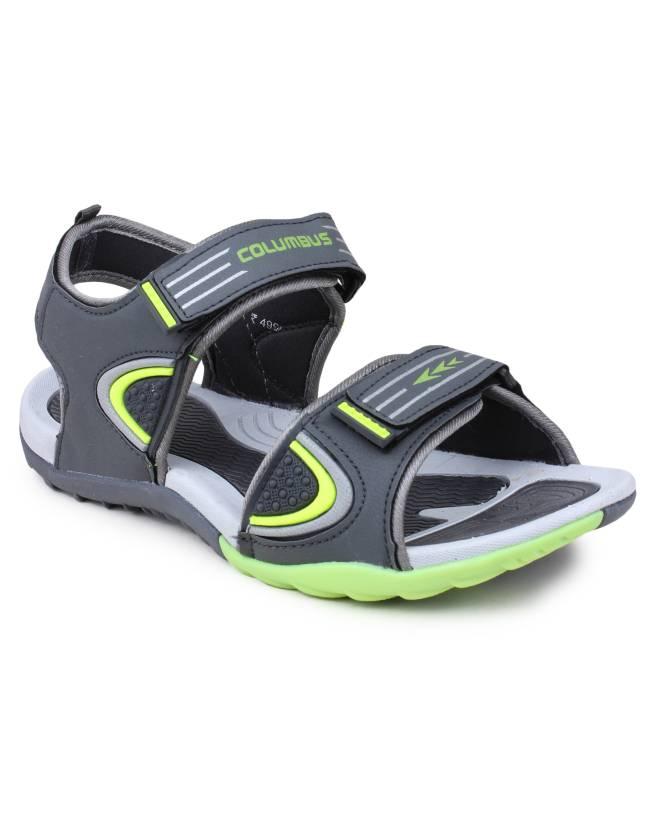 4d34b0519f1 Columbus Men Dark Grey Sandals - Buy Dark Grey Color Columbus Men Dark Grey  Sandals Online at Best Price - Shop Online for Footwears in India
