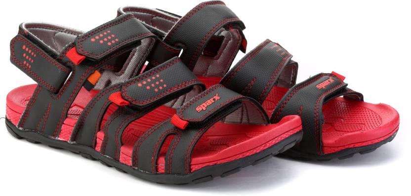 Sparx Men BLACK/RED Sports Sandals