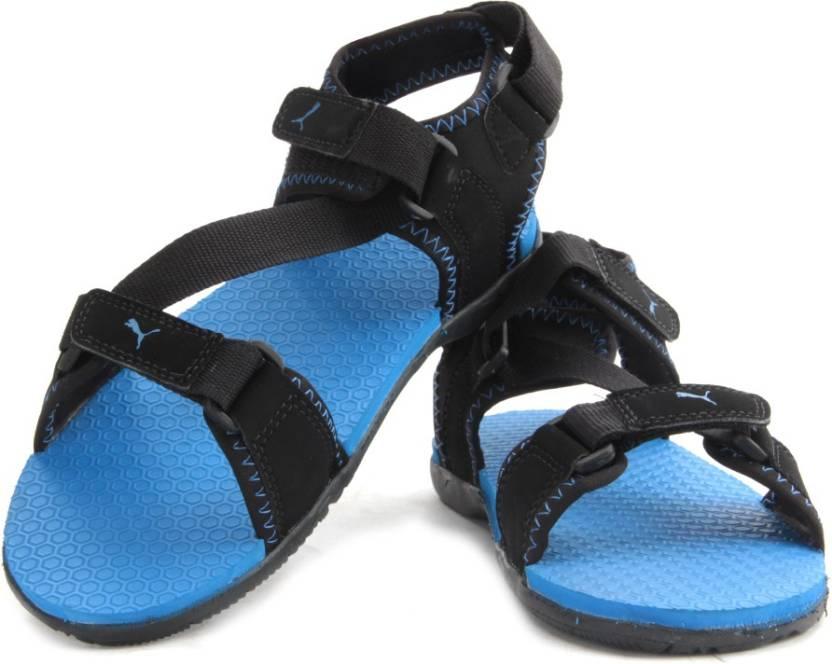 00019c68b2087 Puma Men black-brilliant blue Sports Sandals - Buy black-brilliant blue  Color Puma Men black-brilliant blue Sports Sandals Online at Best Price -  Shop ...