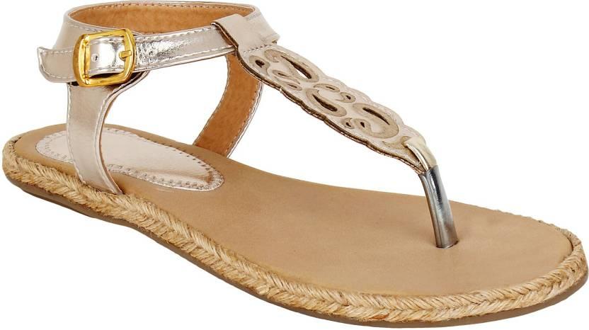 2bd92b75e Glitzy Galz Women Golden Flats - Buy Golden Color Glitzy Galz Women Golden  Flats Online at Best Price - Shop Online for Footwears in India