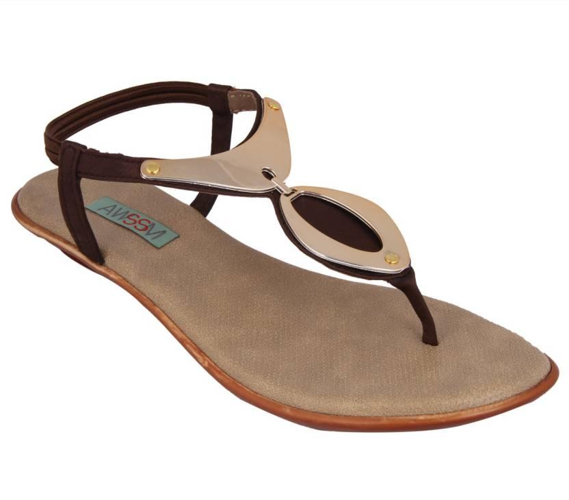cb8c9acac63d Awssm Women Brown Flats - Buy Brown Color Awssm Women Brown ...