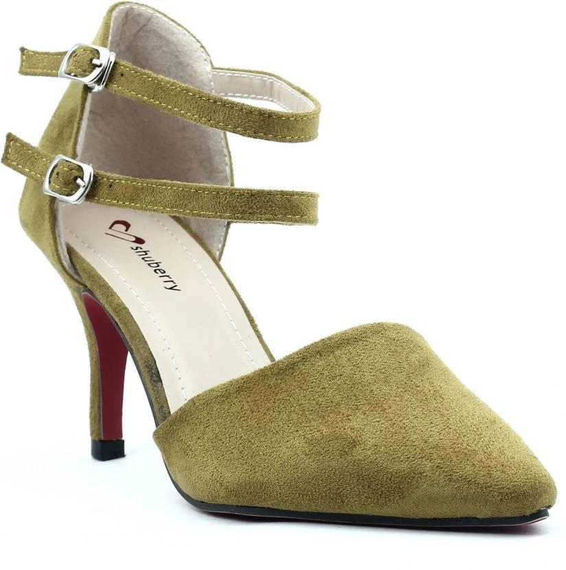 9b52d527f80 Shuberry Women Green Heels - Buy Green Color Shuberry Women Green Heels  Online at Best Price - Shop Online for Footwears in India