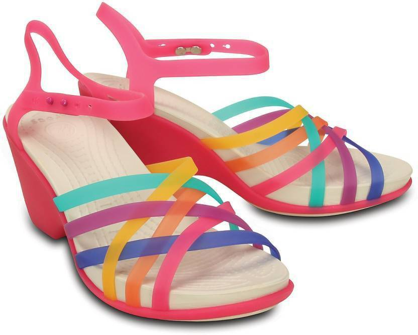 bb3071d95f Crocs Women Multi/Candy Pink Heels - Buy Multi Color Color Crocs Women  Multi/Candy Pink Heels Online at Best Price - Shop Online for Footwears in  India ...
