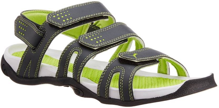 0e354a754863df Puma Men Black  Green Sandals - Buy Black