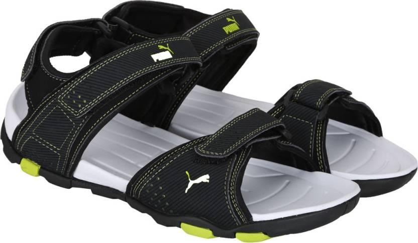4d0167375a7ece Puma Men Puma Black-Bright Green Sports Sandals - Buy Puma Black-Bright  Green Color Puma Men Puma Black-Bright Green Sports Sandals Online at Best  Price ...