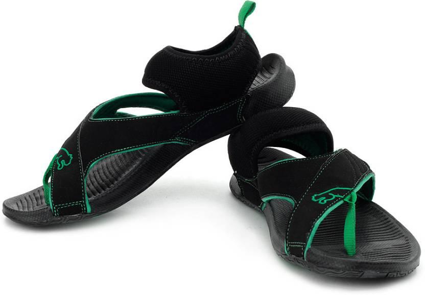 Puma Men 01, Black, Leaf Green Casual