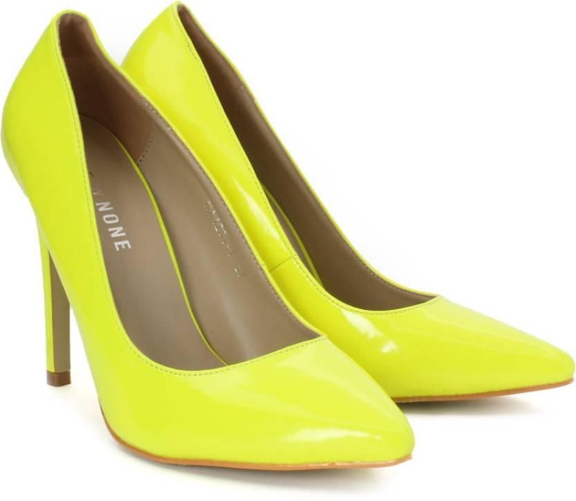 de381d36f Done By None Women Neon Yellow Heels - Buy Neon Yellow Color Done By None  Women Neon Yellow Heels Online at Best Price - Shop Online for Footwears in  India ...