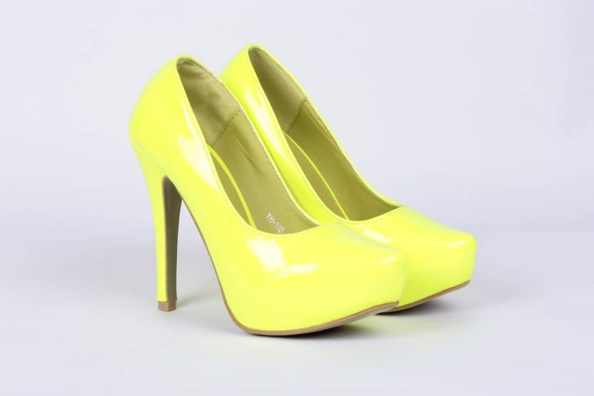 036525cda Steppings Women Yellow Heels - Buy Yellow Color Steppings Women ...