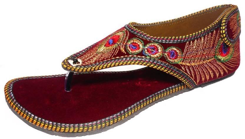 5c1311a13f7 Kanchan Women Maroon Flats - Buy Maroon Color Kanchan Women Maroon Flats  Online at Best Price - Shop Online for Footwears in India