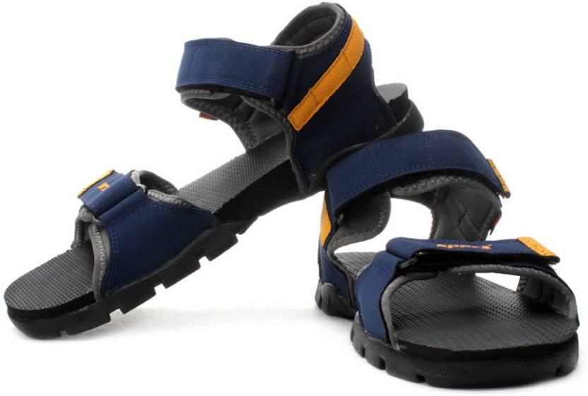 cc263fb2a27 Sparx Men Navy Blue Yellow Sports Sandals - Buy Navy