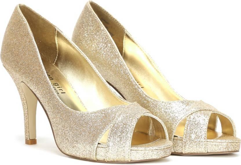 6010c8cea Steve Madden Women Gold Glitter Heels - Buy Gold Glitter Color Steve ...