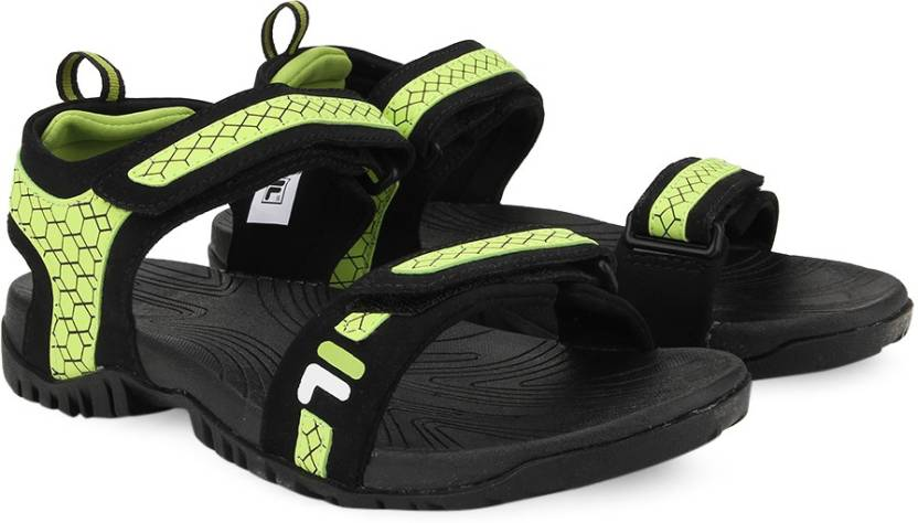 f84e3abad90e Fila Men BLK NEO GRN Sports Sandals - Buy BLK NEO GRN Color Fila Men  BLK NEO GRN Sports Sandals Online at Best Price - Shop Online for Footwears  in India ...