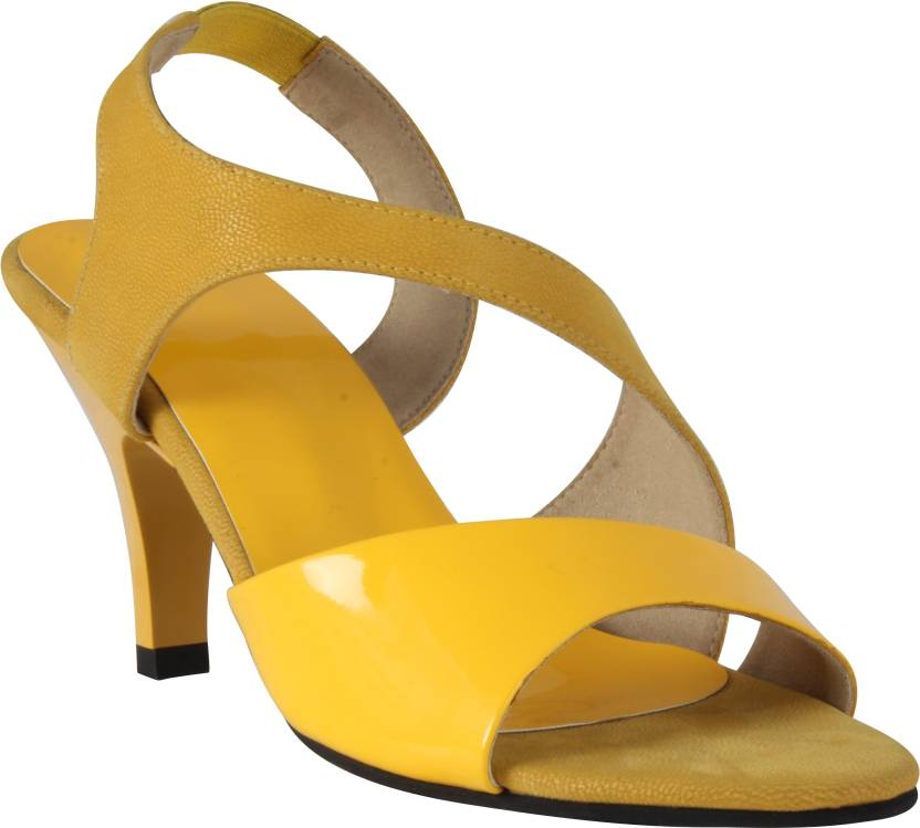 03bf9a202 XQZITE Women Yellow Heels - Buy Yellow Color XQZITE Women Yellow Heels  Online at Best Price - Shop Online for Footwears in India