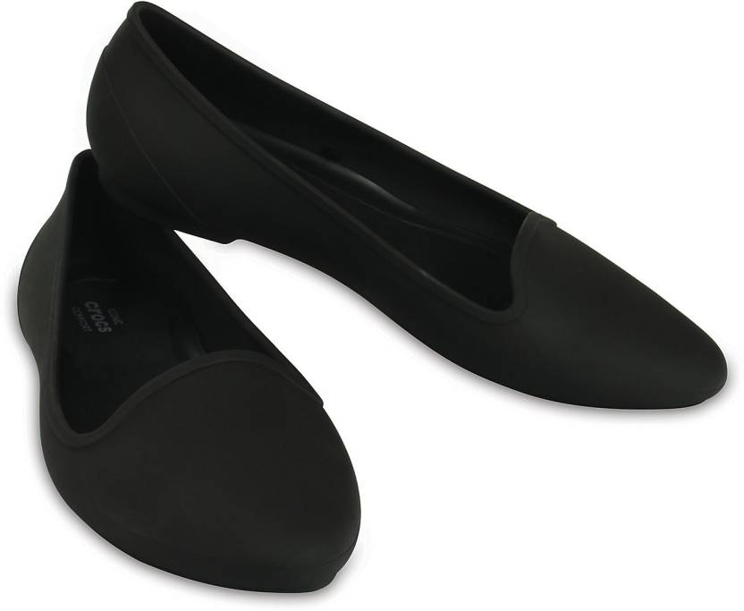 f83a5db3f Crocs Women Black Flats - Buy 203433-001 Color Crocs Women Black Flats  Online at Best Price - Shop Online for Footwears in India