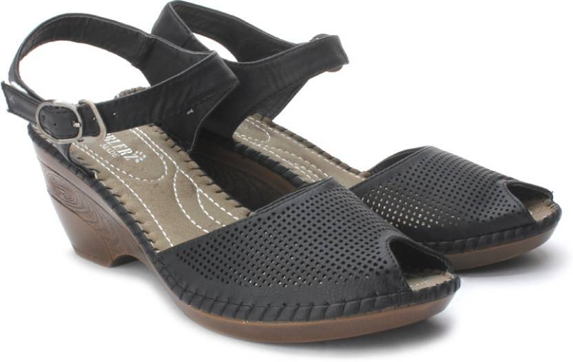 ec8137763b6e Cobblerz Women Blk Wedges - Buy Black Color Cobblerz Women Blk Wedges  Online at Best Price - Shop Online for Footwears in India