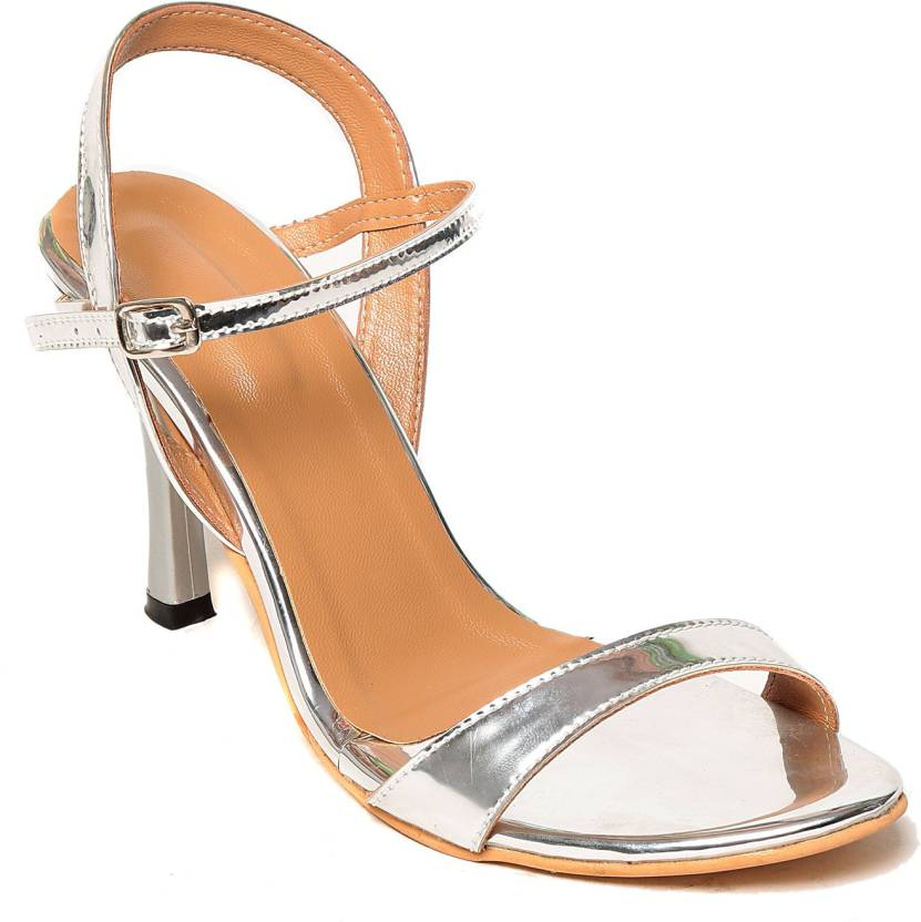 191cd0224a8 Adorn Women Silver Heels - Buy Silver Color Adorn Women Silver Heels Online  at Best Price - Shop Online for Footwears in India