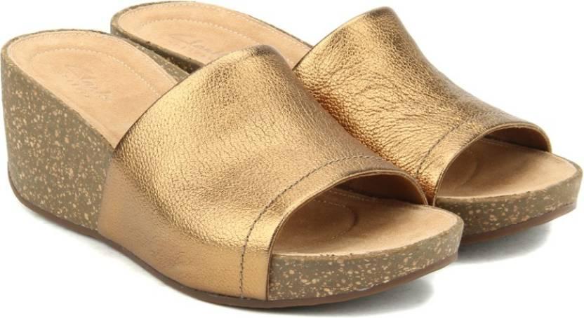 fe82f4d60f5 Clarks Women Gold Metallic Wedges - Buy Gold Metallic Color Clarks Women  Gold Metallic Wedges Online at Best Price - Shop Online for Footwears in  India ...