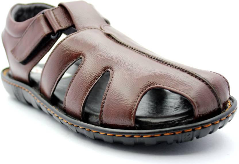 4c02ca03b58ae KSF Comfy Men Brown Sandals - Buy Brown Color KSF Comfy Men Brown Sandals  Online at Best Price - Shop Online for Footwears in India